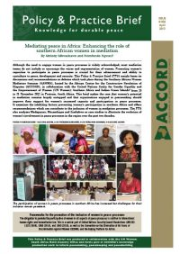 ACCORD - PPB - 25 - Mediating peace in Africa