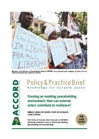 ACCORD - PPB - 28 - Creating an enabling peacebuilding environment