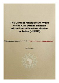 ACCORD - Report - The Conflict Management Work of the Civil Affairs Division of UNMIS