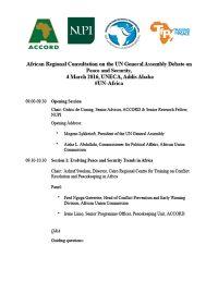 Africa-Regional-Consultation-Programme
